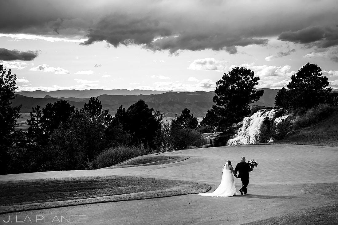Bride and Groom on Golf Course | Sanctuary Golf Course Wedding | Denver Wedding Photographer | J. La Plante Photo