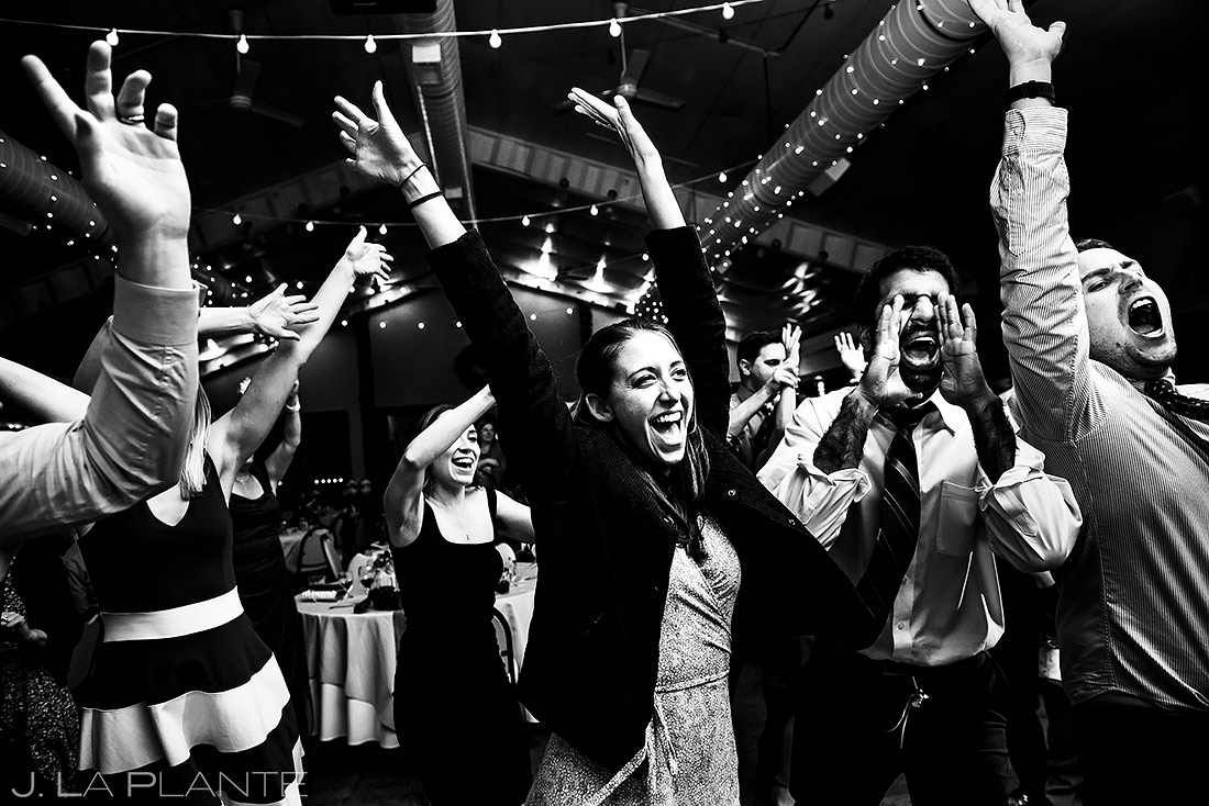 Wedding Reception Dance Party | Shupe Homestead Wedding | Colorado Wedding Photographer | J. La Plante Photo