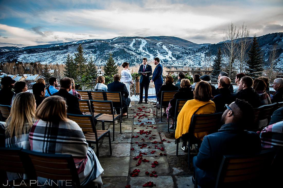 Winter Mountain Wedding Ceremony | Sonnenalp Club Wedding | Beaver Creek Wedding Photographer | J. La Plante Photo