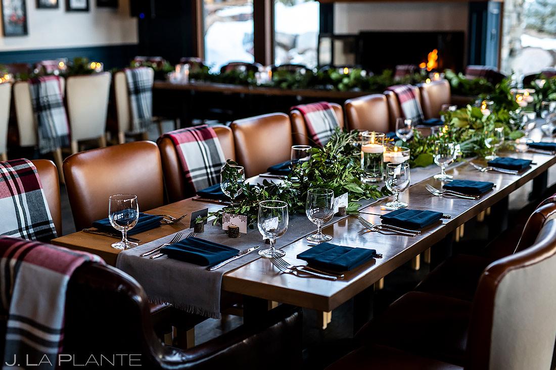 Wedding Reception Details | Sonnenalp Club Wedding | Beaver Creek Wedding Photographer | J. La Plante Photo