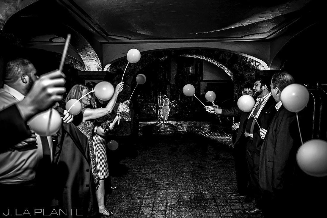 Bride and Groom Send Off | Sonnenalp Hotel Wedding | Vail Wedding Photographer | J. La Plante Photo