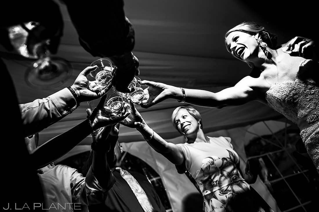 Brides Doing Tequila Shots | Steamboat Grand Wedding | Steamboat Springs Wedding Photographer | J. La Plante Photo