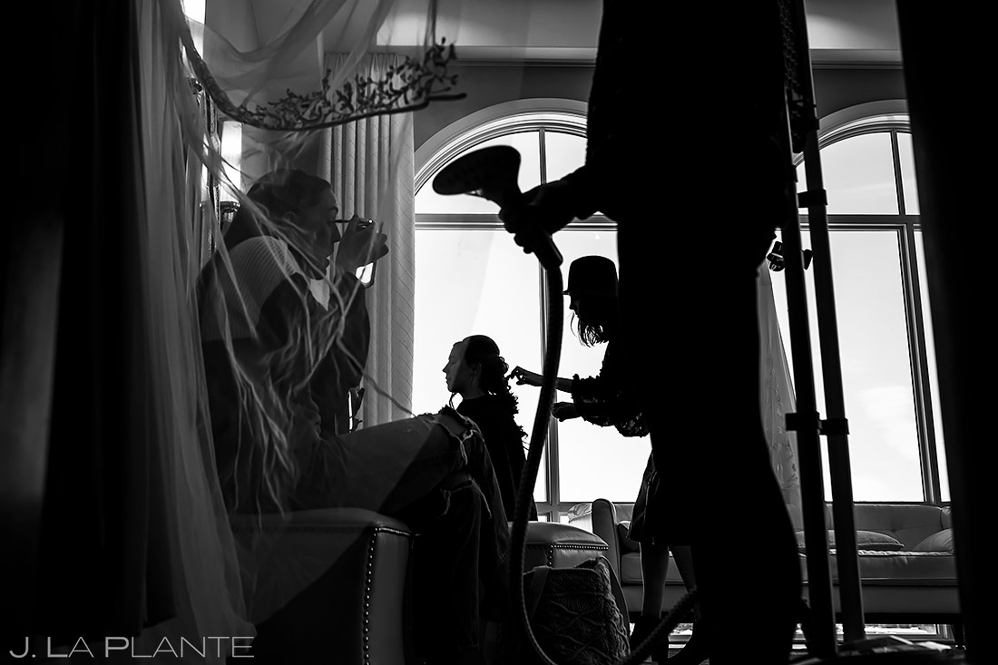 Bride Getting Ready | Pinery at the Hill Wedding | Colorado Springs Wedding Photographer | J. La Plante Photo
