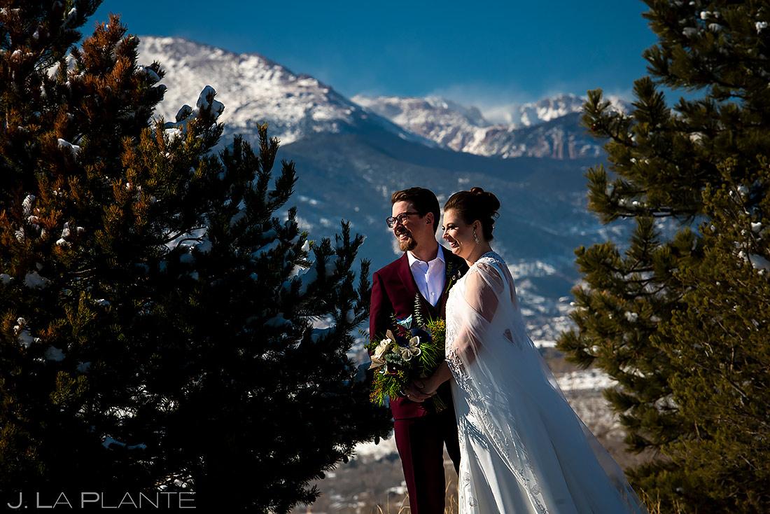 Unique Bride and Groom Photo   Pinery at the Hill Wedding   Colorado Springs Wedding Photographer   J. La Plante Photo