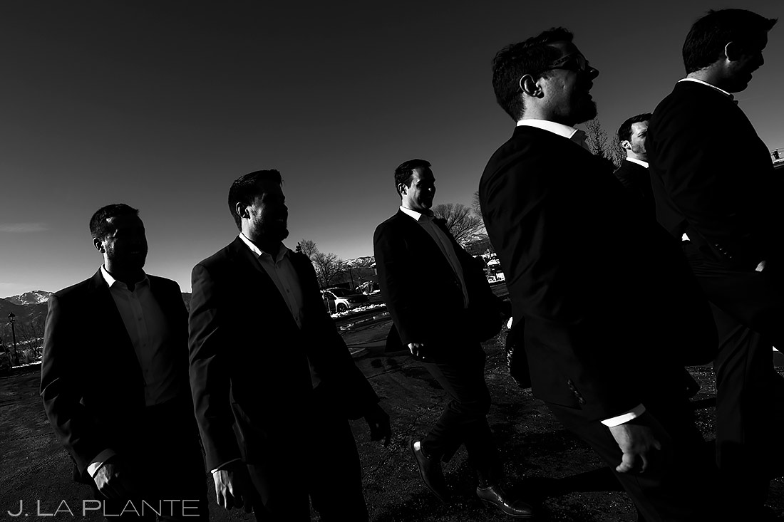Unique Groomsmen Photo | Pinery at the Hill Wedding | Colorado Springs Wedding Photographer | J. La Plante Photo