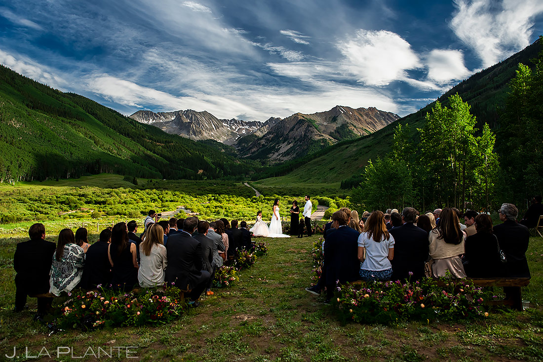 Mountain Wedding Ceremony | Pine Creek Cookhouse Wedding | Aspen Wedding Photographer | J. La Plante Photo