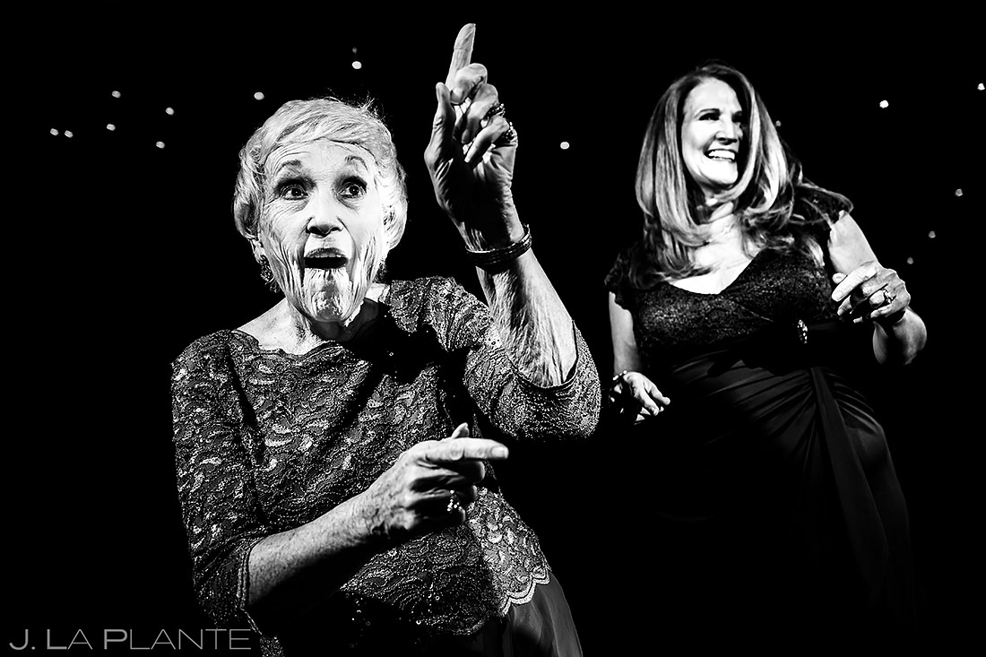 Grandmother Dancing During Wedding Reception | TenMile Station Wedding | Breckenridge Wedding Photographer | J. La Plante Photo