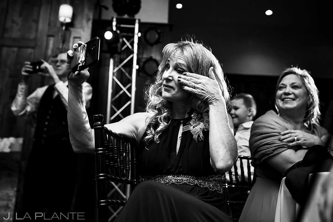 Mother of the Bride Crying | Pinery at the Hill Wedding | Colorado Springs Wedding Photographer | J. La Plante Photo