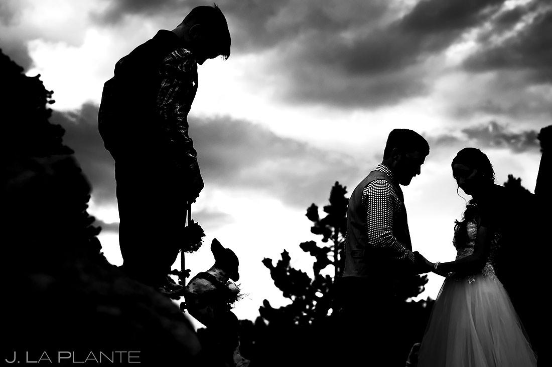 Dogs at Weddings | Rocky Mountain National Park Wedding | Estes Park Wedding Photographer | J. La Plante Photo