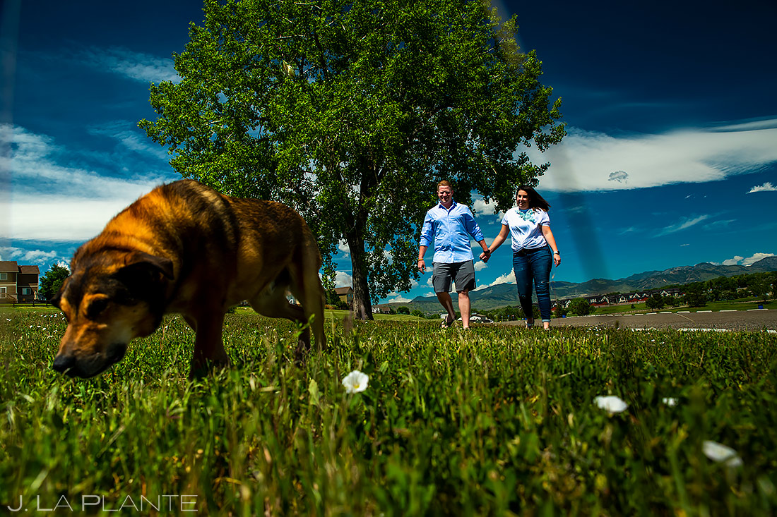 Engagement Shoots with Dogs | Denver Engagement | Denver Wedding Photographer | J. La Plante Photo
