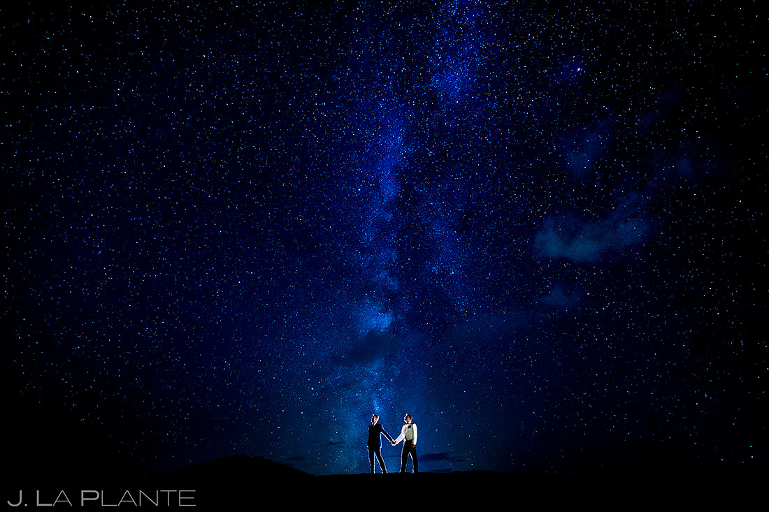 Groom and Groom Under the Stars | Aspen Meadows Resort Wedding | Aspen Wedding Photographer | J. La Plante Photo
