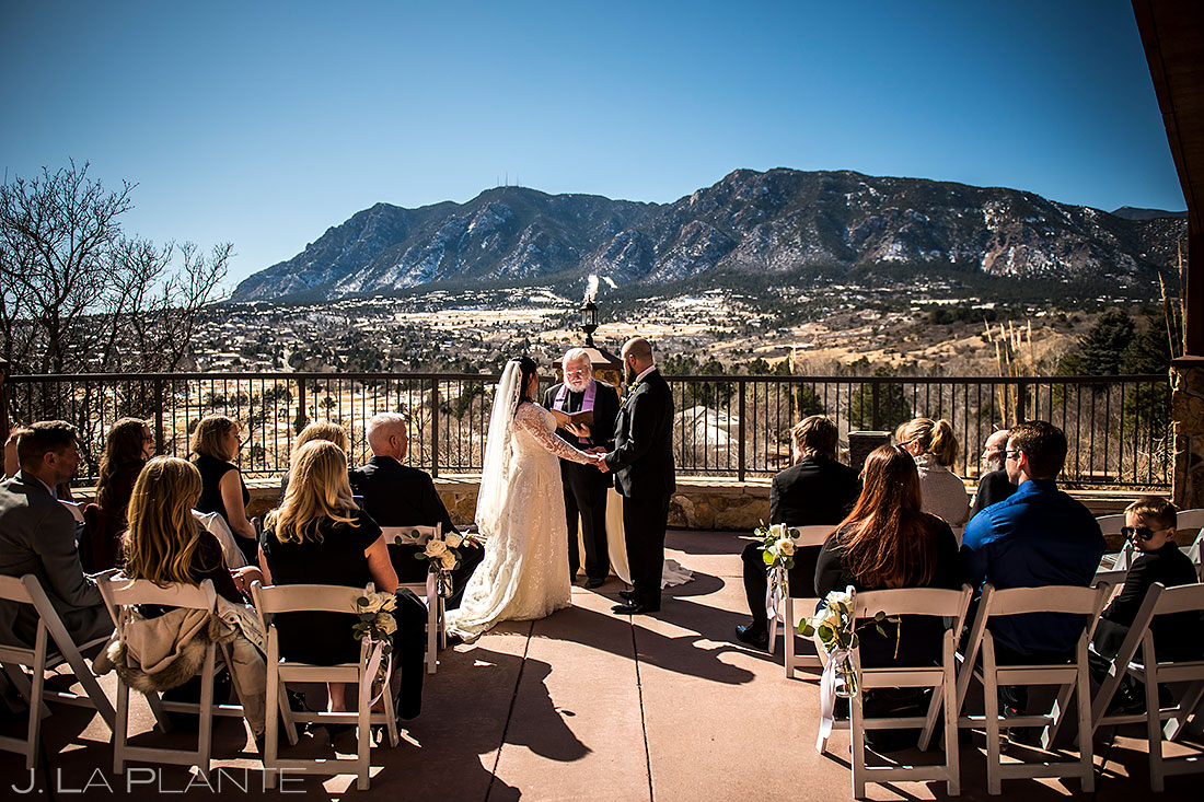 Colorado Winter Wedding Ceremony | Cheyenne Mountain Resort Wedding | Colorado Springs Wedding Photographer | J. La Plante Photo