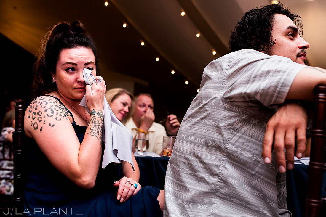 lionsgate wedding guests crying candid wedding photography