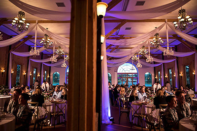 crooked willow farms wedding reception lighting