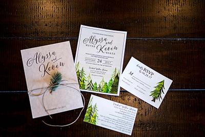 spruce mountain ranch wedding invitations