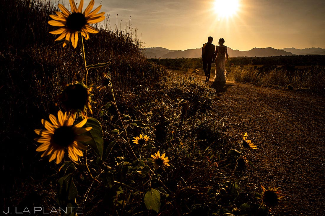 lionsgate wedding bride and groom sunset wedding photo