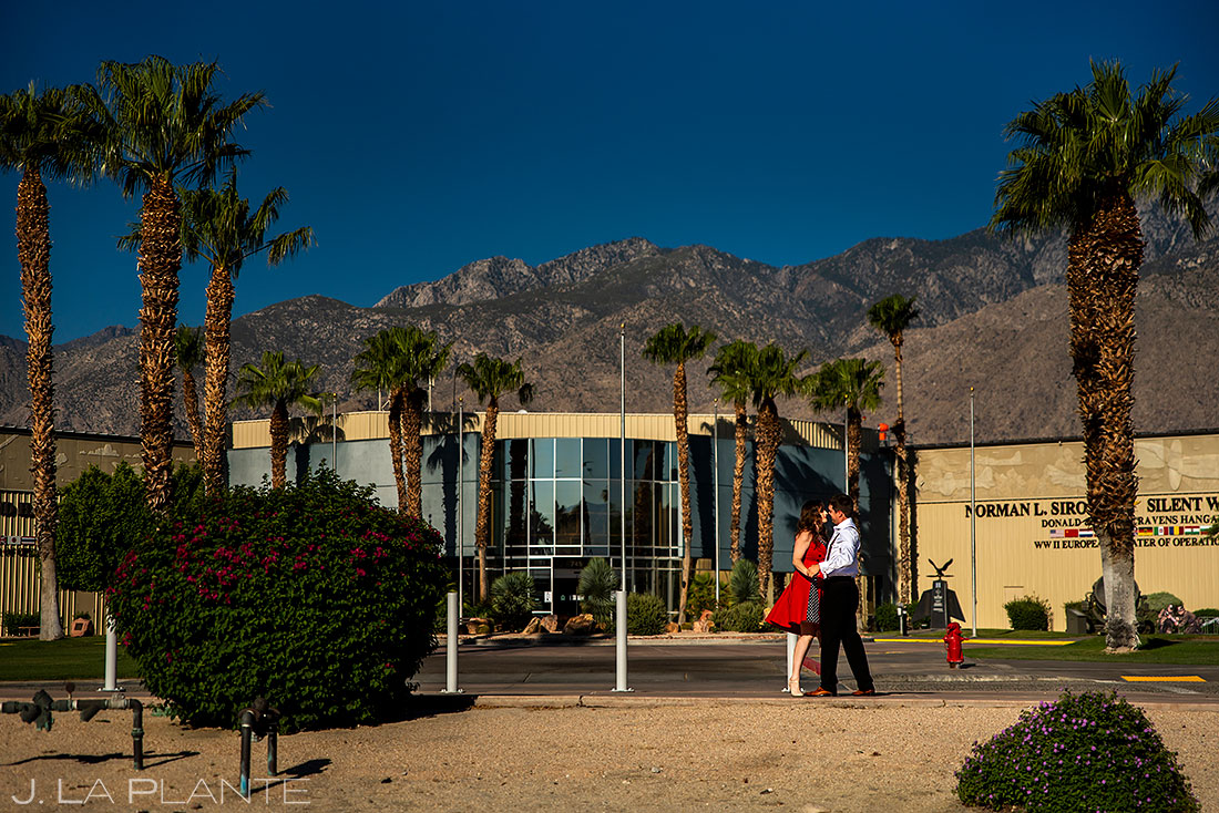 palms springs air museum engagement session in palm springs california
