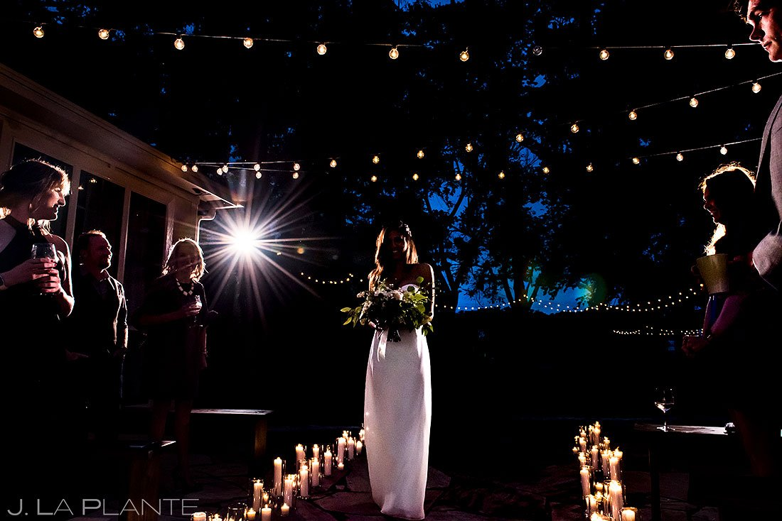 blue hour wedding photos at wedding ceremony in texas