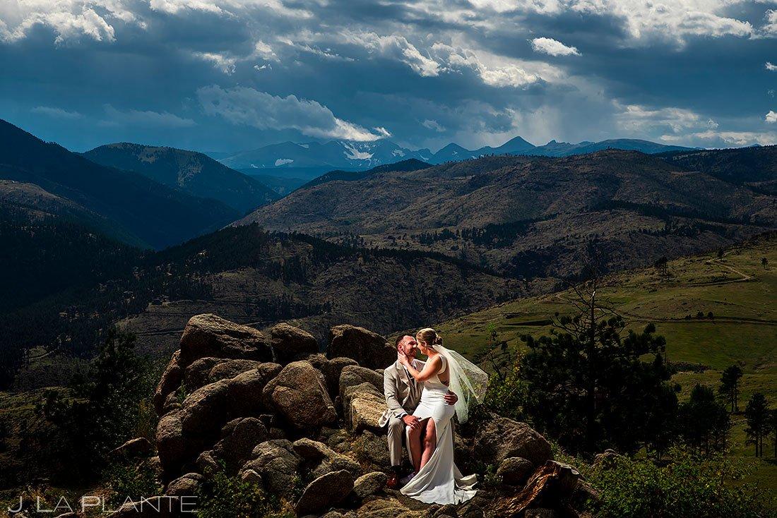 denver micro wedding portrait of bride and groom