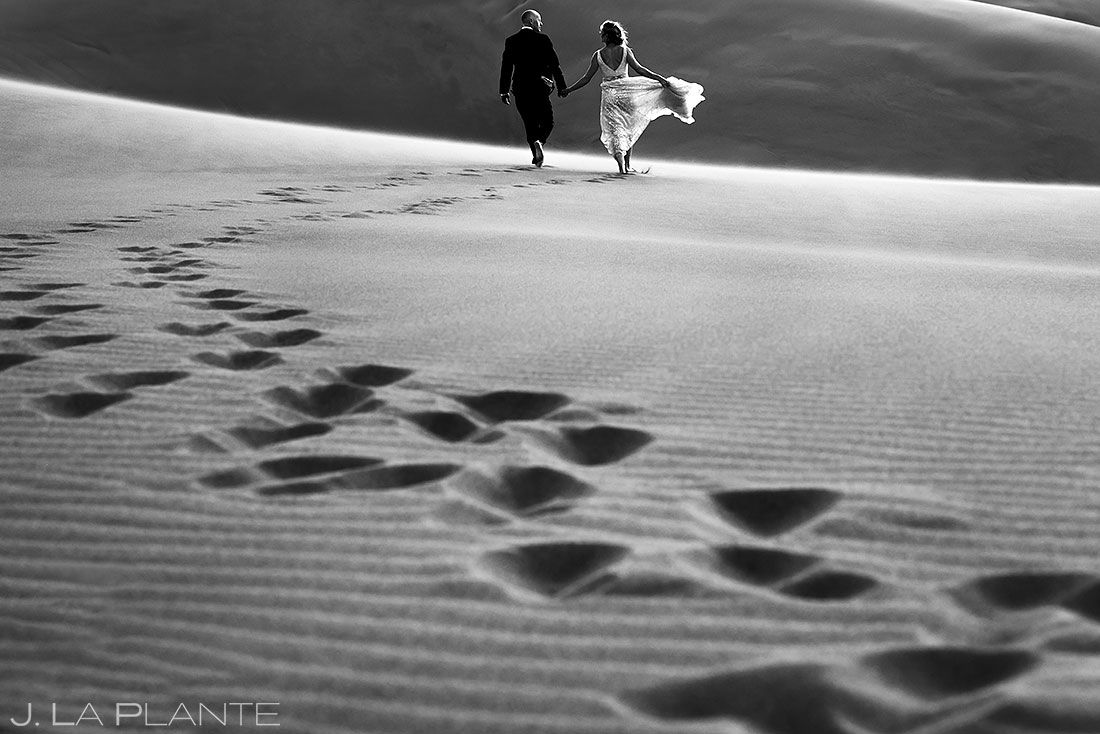 post wedding photoshoot at the great sand dunes