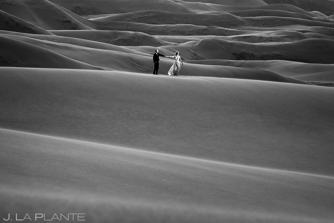 post wedding photoshoot at the great sand dunes in colorado